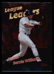 1999 Topps #222   -  Bernie Williams League Leaders Front Thumbnail