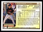1999 Topps #293  Ryan Minor  Back Thumbnail