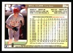 1999 Topps #9  Will Clark  Back Thumbnail