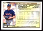 1999 Topps #298  Pat Hentgen  Back Thumbnail