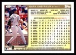 1999 Topps #55  Gary Sheffield  Back Thumbnail