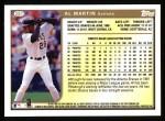 1999 Topps #287  Al Martin  Back Thumbnail