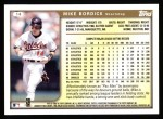 1999 Topps #14  Mike Bordick  Back Thumbnail