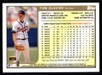 1999 Topps #243  Tom Glavine  Back Thumbnail