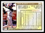 1999 Topps #139  Fred McGriff  Back Thumbnail