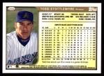 1999 Topps #356  Todd Stottlemyre  Back Thumbnail