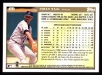 1999 Topps #384  Omar Daal  Back Thumbnail