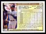 1999 Topps #100  Ken Griffey Jr.  Back Thumbnail