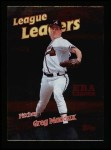 1999 Topps #231   -  Greg Maddux League Leaders Front Thumbnail