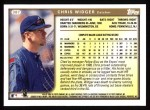 1999 Topps #387  Chris Widger  Back Thumbnail