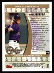 1999 Topps #448   -  Randy Johnson Strikeout Kings Back Thumbnail