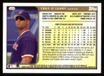 1999 Topps #288  Troy O'Leary  Back Thumbnail