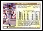 1999 Topps #186  Jose Valentin  Back Thumbnail