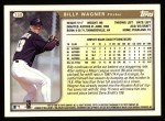 1999 Topps #108  Billy Wagner  Back Thumbnail
