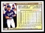 1999 Topps #103  Dean Palmer  Back Thumbnail