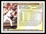 1999 Topps #180  Mike Mussina  Back Thumbnail