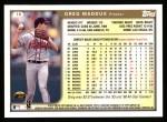 1999 Topps #16  Greg Maddux  Back Thumbnail