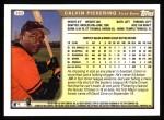 1999 Topps #382  Calvin Pickering  Back Thumbnail