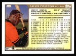 1999 Topps #382  Calvin Pickering  Back Thumbnail