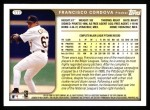 1999 Topps #177  Francisco Cordova  Back Thumbnail