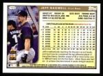 1999 Topps #150  Jeff Bagwell  Back Thumbnail