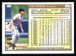 1999 Topps #270  Cal Ripken  Back Thumbnail