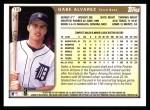 1999 Topps #188  Gabe Alvarez  Back Thumbnail