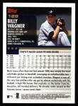 2000 Topps #129  Billy Wagner  Back Thumbnail