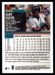 2000 Topps #252  Cliff Floyd  Back Thumbnail