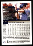 2000 Topps #163  Bill Spiers  Back Thumbnail