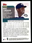 2000 Topps #335  Mike Cameron  Back Thumbnail