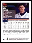 2000 Topps #255  Ben Davis  Back Thumbnail