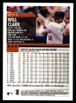 2000 Topps #271  Will Clark  Back Thumbnail