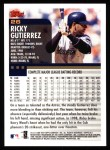 2000 Topps #26  Ricky Gutierrez  Back Thumbnail
