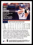2000 Topps #307  Eric Owens  Back Thumbnail