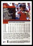 2000 Topps #16  Javy Lopez  Back Thumbnail