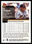 2000 Topps #83  Ed Sprague  Back Thumbnail