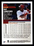 2000 Topps #245  Ray Lankford  Back Thumbnail
