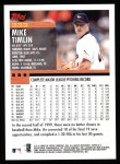 2000 Topps #333  Mike Timlin  Back Thumbnail