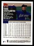 2000 Topps #310  Todd Stottlemyre  Back Thumbnail