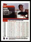 2000 Topps #44  Hank Aaron  Back Thumbnail