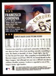 2000 Topps #171  Francisco Cordova  Back Thumbnail