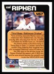 2000 Topps #457   -  Cal Ripken Season Highlights Back Thumbnail