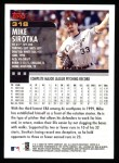 2000 Topps #318  Mike Sirotka  Back Thumbnail