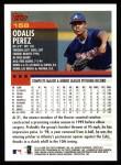 2000 Topps #158  Odalis Perez  Back Thumbnail