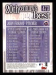 2000 Topps #473   -  John Franco 20th Century's Best Back Thumbnail