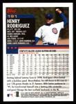2000 Topps #191  Henry Rodriguez  Back Thumbnail