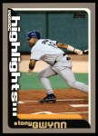 2000 Topps #459   -  Tony Gwynn Season Highlights Front Thumbnail