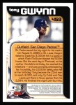 2000 Topps #459   -  Tony Gwynn Season Highlights Back Thumbnail
