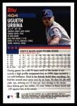2000 Topps #404  Ugueth Urbina  Back Thumbnail